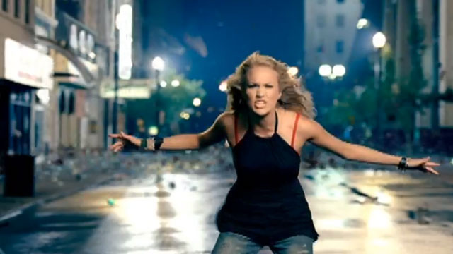"""PHOTO:Screenshot from Carrie Underwood's """"Before He Cheats"""" music video."""