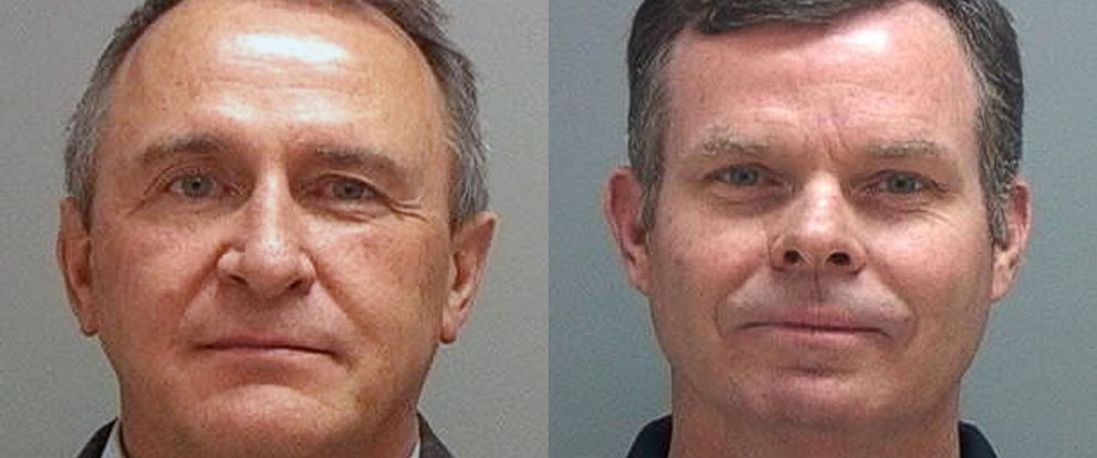 PHOTO: This combination of July 15, 2014 photos provided by the Salt Lake County Sheriff shows former Utah attorneys general Mark Shurtleff, left, and John Swallow who were taken into custody as part of a bribery investigation.