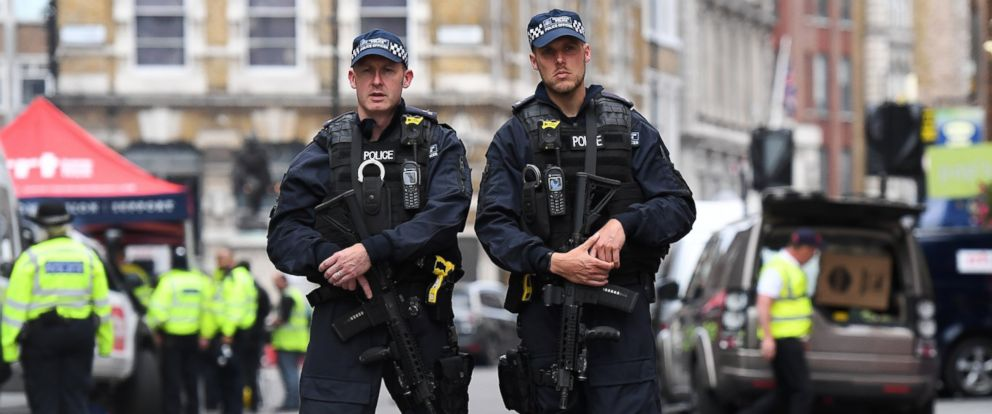 PHOTO: British armed police on duty near the site of an attack at Borough Market in London, Britain, June 4, 2017.