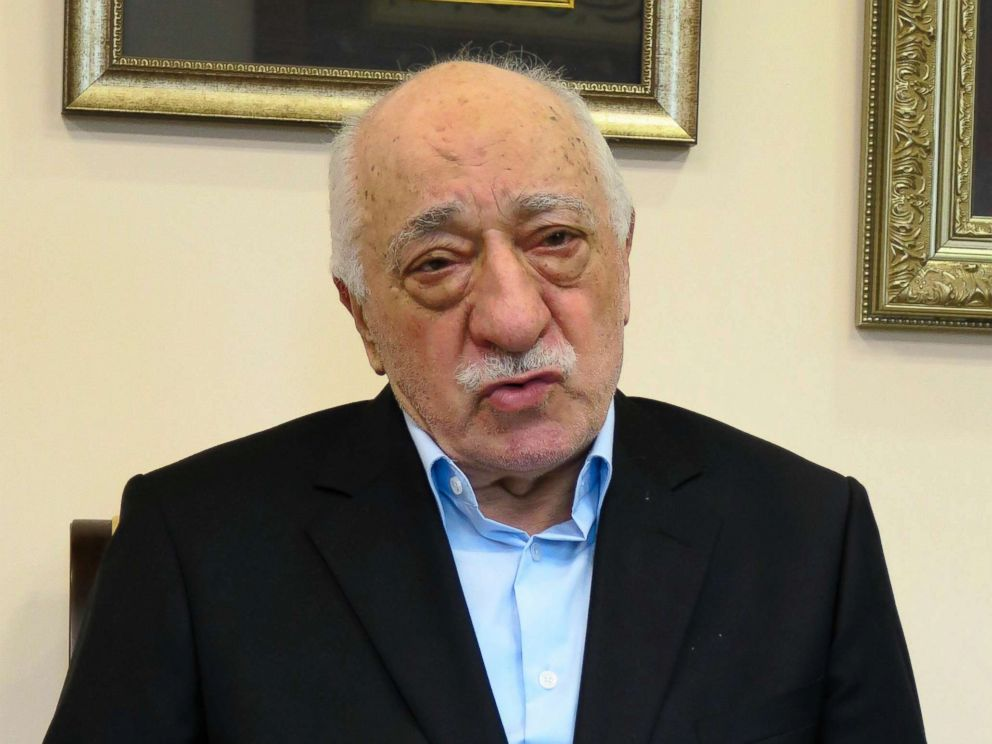 PHOTO: Turkish Preacher Fethullah Gulen speaks during a group interview on July 17, 2016 in Saylorsburg, Pennsylvania.