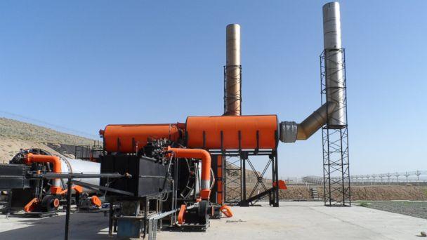 PHOTO: This SIGAR image shows two 40-ton capacity waste incinerators at F.O.B. Base Sharana