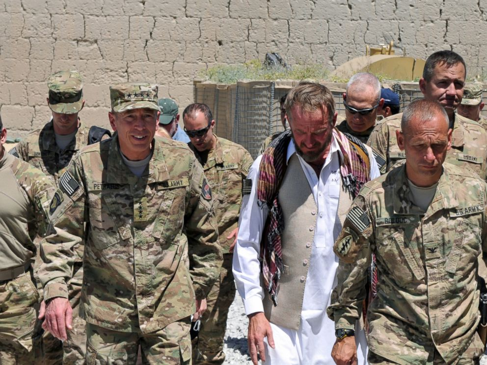 PHOTO: Gen. David Petraeus, seen here second from left next to former Special Forces Maj. Jim Gant, took over command of U.S. forces in Afghanistan in 2010. He has praised Gants courage, intelligence and vision.