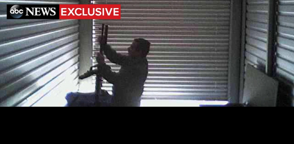 PHOTO: Video, obtained exclusively by ABC News, shows an al Qaeda-linked terrorist handling heavy weapons inside a storage facility in Kentucky in 2010. He was arrested in 2011.