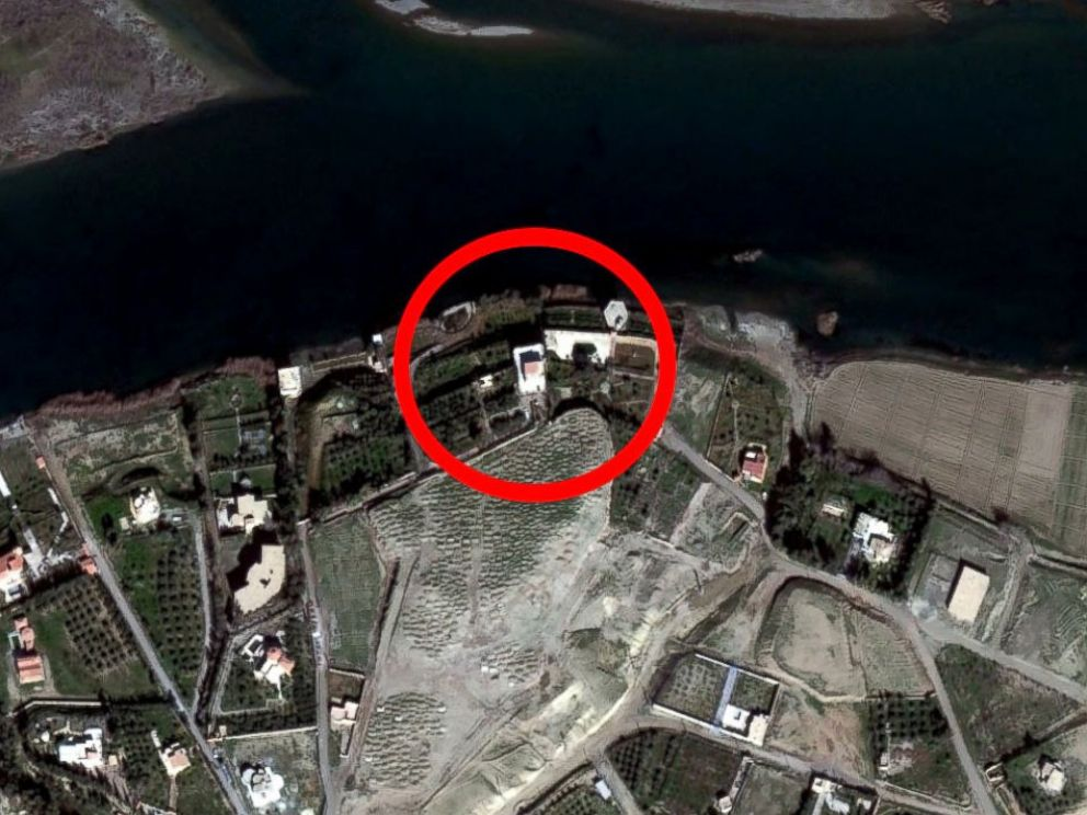 PHOTO: This satellite photo shows a compound on the Euphrates River just south of Raqqah, Syria where ISIS hostages, including James Foley, were believed to have been held in the Spring of 2014 based on descriptions by former hostages.