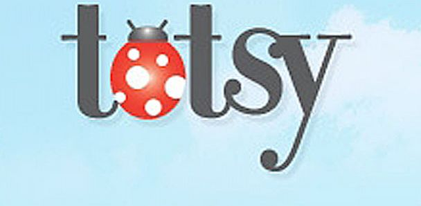 PHOTO: Totsy.com website logo is seen here.