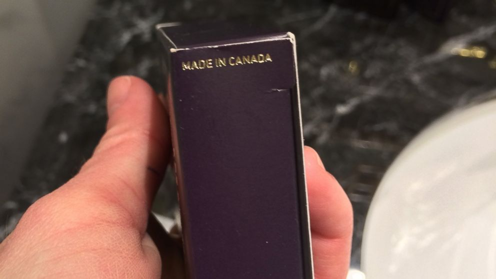 The 'Trump Hotel Collection' toiletries were made in Canada.