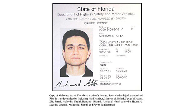 PHOTO: Atta's Florida driver's license.