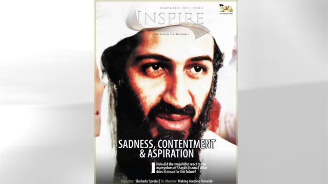 """PHOTO:A new edition of Al Qaedas official magazine claims that Osama bin Laden fought back in a """"vicious battle"""" with the U.S. Navy SEALs before his death in May."""