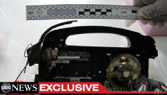 PHOTO: Forensic photographs obtained exclusively by ABC News show an explosive device hidden in a handheld radio allegedly designed to be used in a failed bombing attack in Bangkok, Thailand.