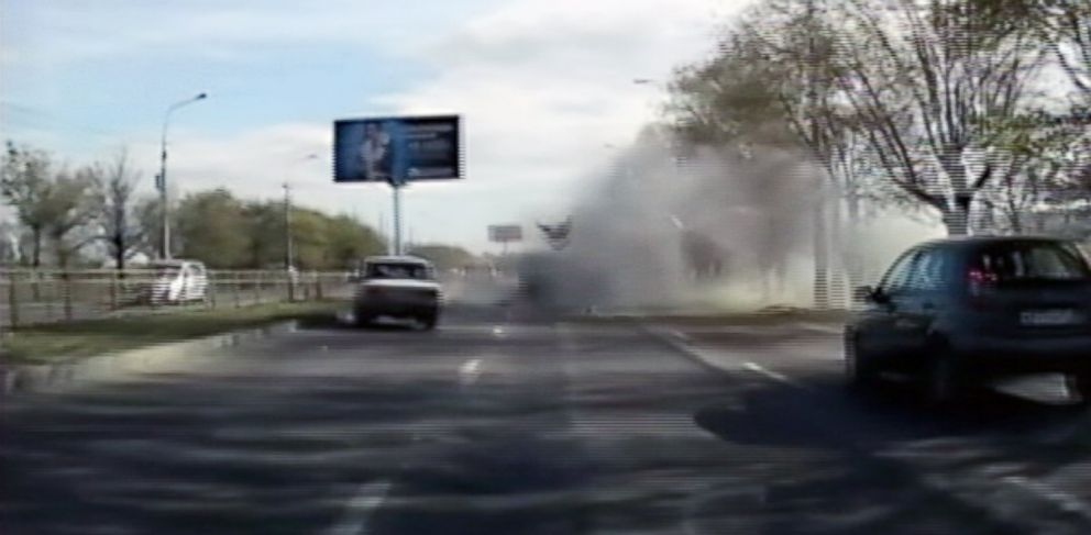 PHOTO: Dashcam video captured the moment a female suicide bomber blew herself up on board a city bus in the southern Russian city of Volgograd, killing six and injuring about 30 people.
