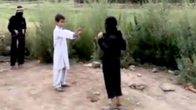 VIDEO: Kids Play Suicide Bombing Game