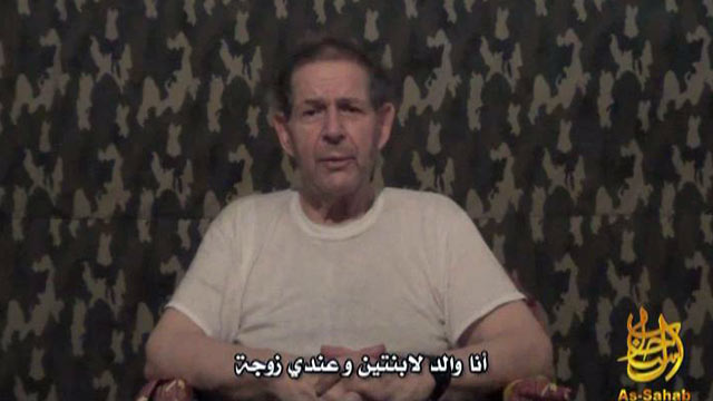 PHOTO: Hostage Warren Weinstein is seen in this clip from a newly released al Qaeda video. Weinstein asks Israeli Prime Minister Benjamin Netanyahu for help in the video.