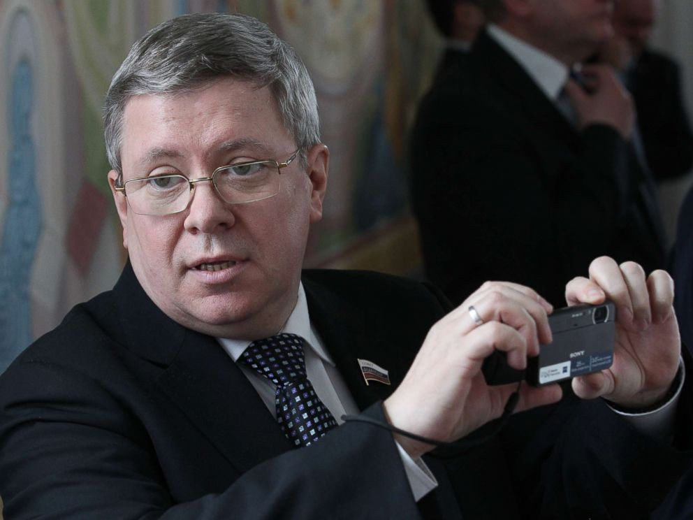 PHOTO: Russian Council of the Federation Deputy Chief Alexander Torshin is seen during a meeting, April, 3, 2012 in Maloyaroslavets, Russia.