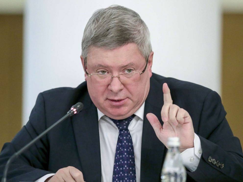 PHOTO: Deputy Governor of the Bank of Russia, Alexander Torshin, addresses a meeting in Moscow, Sept. 14, 2016.