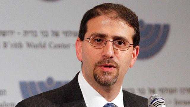 PHOTO: U.S. Ambassador to Israel Daniel Shapiro speaks at the Bnai Brith World Center in Jerusalem, Oct. 31, 2011.