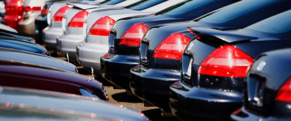 PHOTO: Cars are parked at a dealership in this stock photo.