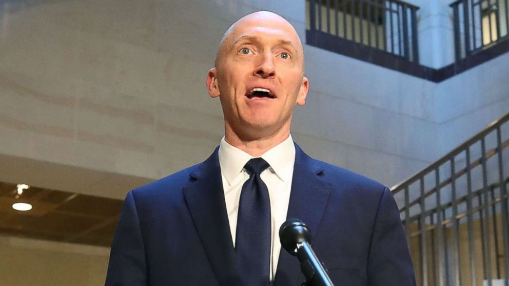 Carter Page, former foreign policy adviser for the Trump campaign, speaks to the media after testifying before the House Intelligence Committee, Nov. 2, 2017 in Washington, D.C.