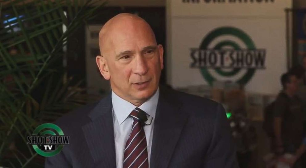 """TULAMMO CEO Ed Grasso during a studio interview on the """"SHOT Show."""""""