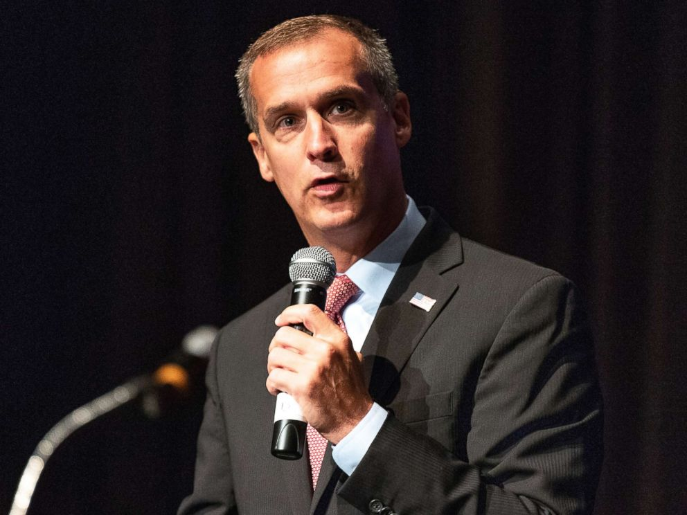 PHOTO: Corey Lewandowski, campaign manager for Donald Trumps 2016 campaign, speaks in Washington, D.C., July 26, 2018.
