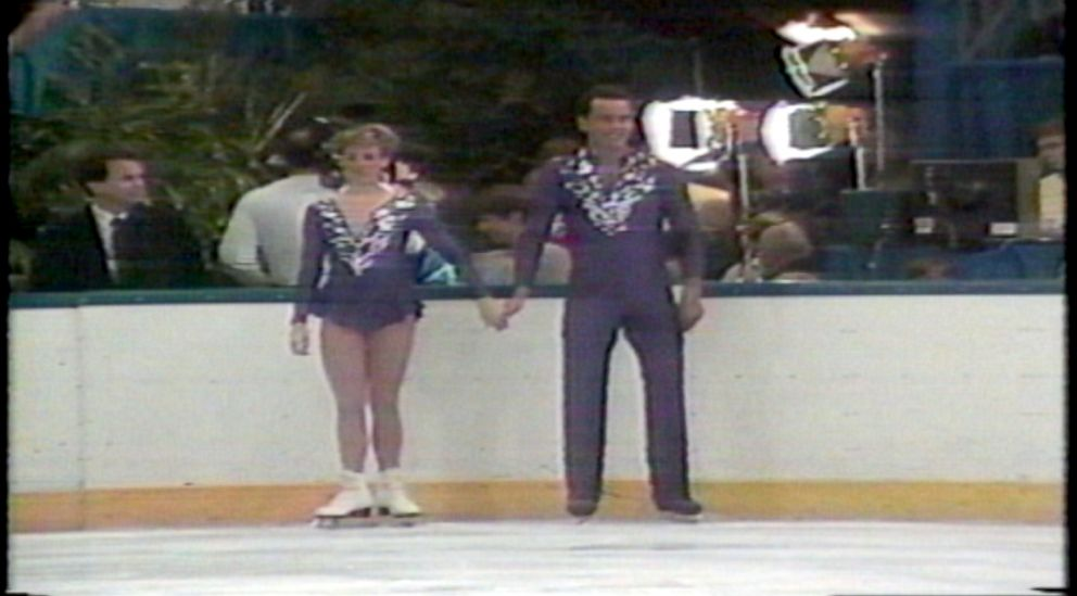 PHOTO: Maurizi, a promising pairs skater, trained under Callaghan (back left) for many years.