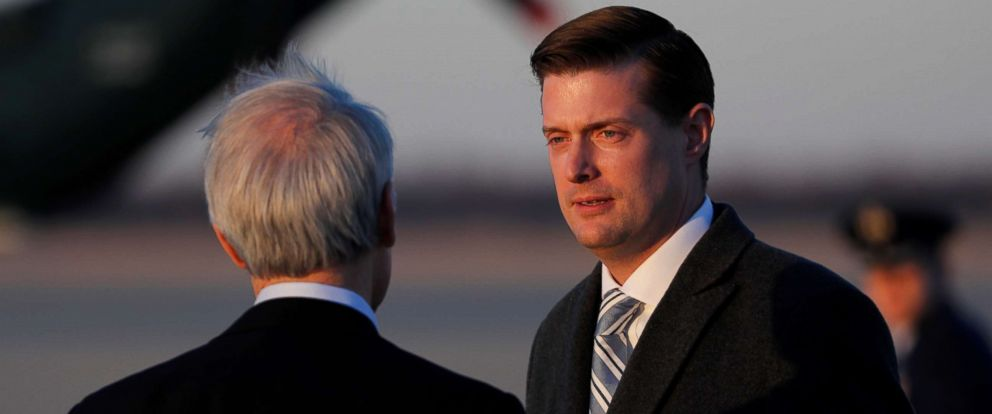 PHOTO:White House Staff Secretary Rob Porter at Joint Base Andrews, Maryland, Feb. 5, 2018.