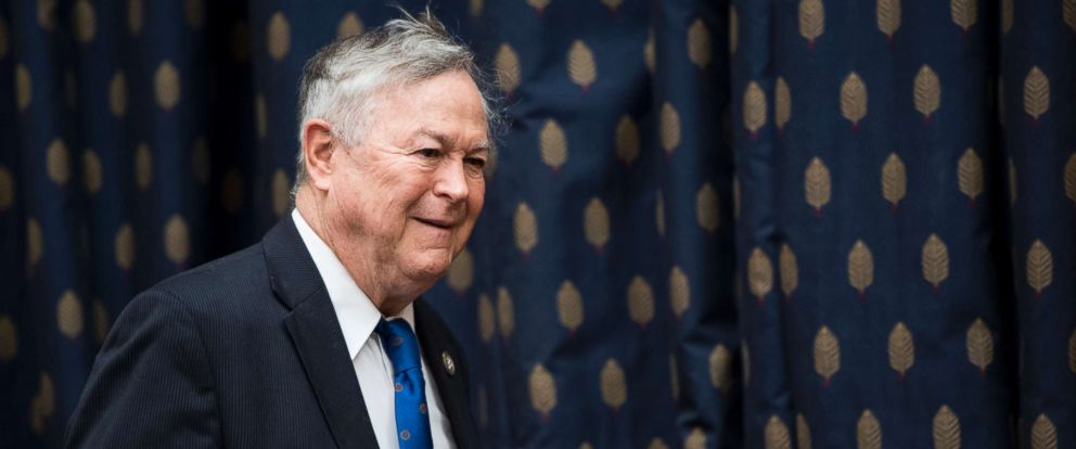 "PHOTO: Rep. Dana Rohrabacher arrives for the House Foreign Affairs Committee hearing on ""An Insiders Look at the North Korean Regime,"" Nov. 1, 2017."