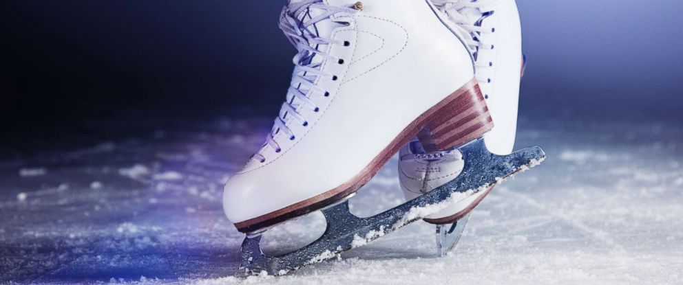 PHOTO: Figure skates on ice are pictured in an undated stock photo.