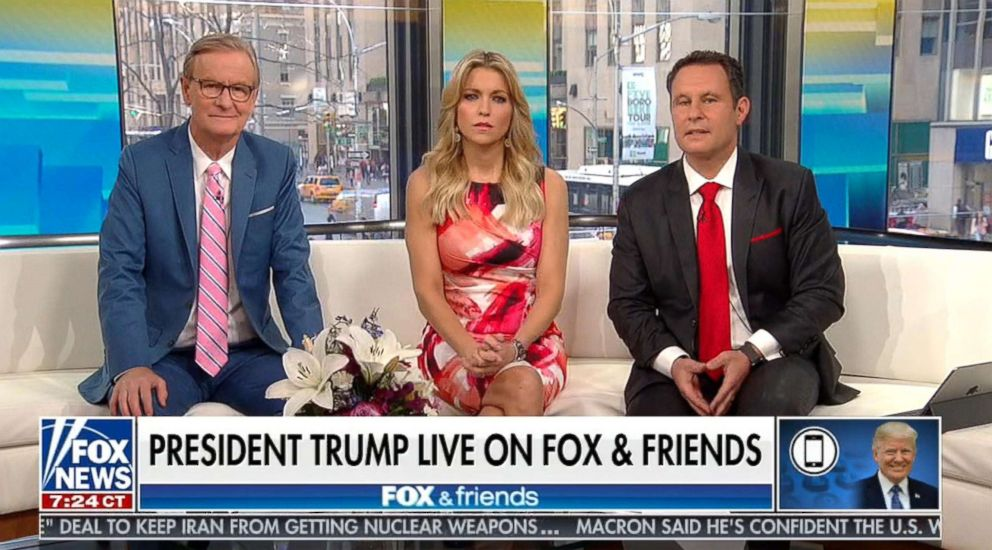PHOTO: President Donald Trump called in to speak with the hosts of Fox & Friends, April 26, 2018.