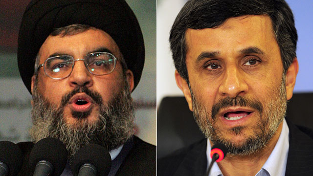 PHOTO: Hezbollah leader Hassan Nasrallah and Iranian President Mahmoud Ahmadinejad