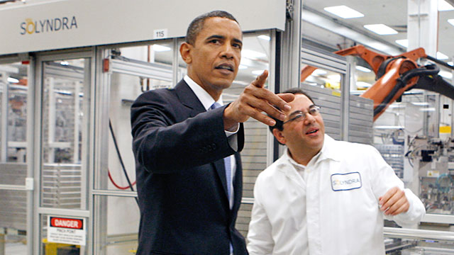 PHOTO: President Barack Obama touring Solyndra