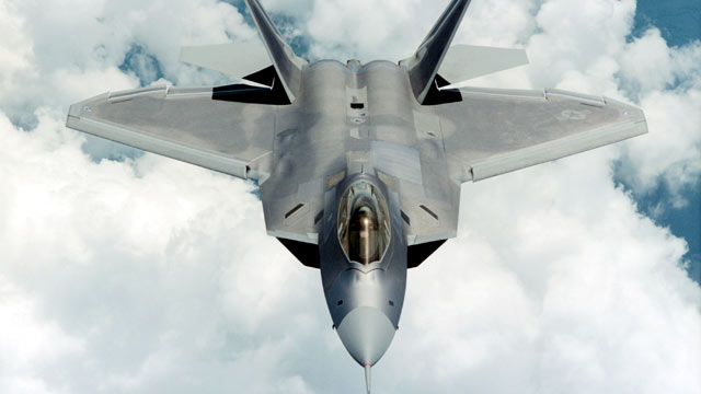 PHOTO: An F-22 Raptor flies in this undated image provided by Lockheed Martin.