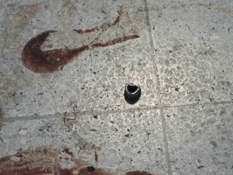 PHOTO: The bomb was packed with shrapnel consisting of bolts and nails.