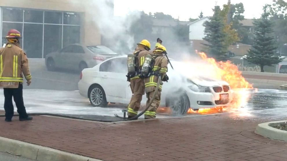 Taz Zaide said that his 2011 BMW 3-series caught on fire about five minutes after he had parked his car to go to work.