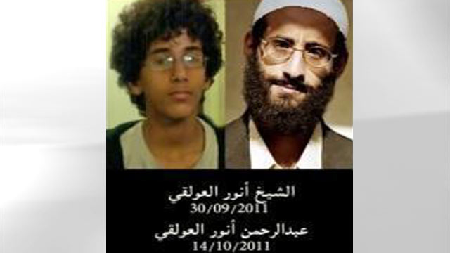PHOTO: Al Qaeda leader Anwar al-Awlaki (right) and his son Abdulrahman al-Awlaki are seen in these undated photos that appeared on the Facebook account of a relative.