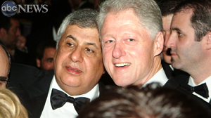PHOTO Former President Bill Clinton with Nigerian businessman Gilbert Chagoury. Chagoury has donated more than $1 million to the Clinton Foundation.