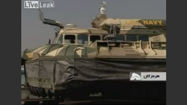PHOTO: Iran unveiled a new hovercraft during a ceremony held, Nov. 12, 2012, in Tehran.