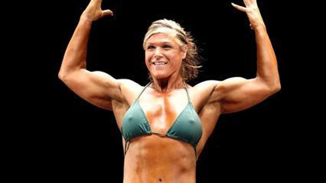PHOTO: Kimberly Vay competes in a national bodybuilding competition in 2011.