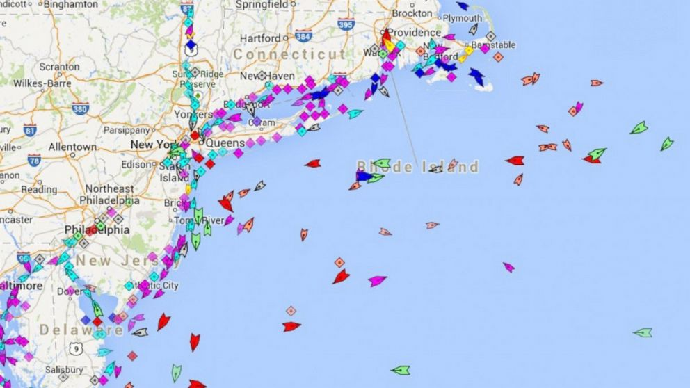 MarineTraffic.com is one of several websites that track international shipping vessels in real time.