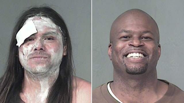 PHOTO:Benjamin Luna and Carl Duane Dobbins are currently in 1st and 3rd place in the Maricopa County Mugshot Of the Day leader board, April 20, 2011.