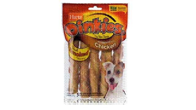 PHOTO: Oinkies, pig-and-chicken treats by Hartz, are being recalled due to reports of illness stemming from unapproved antibiotic residue found on the treats, which are produced in China.