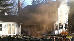 Photo: ABC News investigative reporter Brian Ross Connecticut house was heavily damaged by fire on Monday.