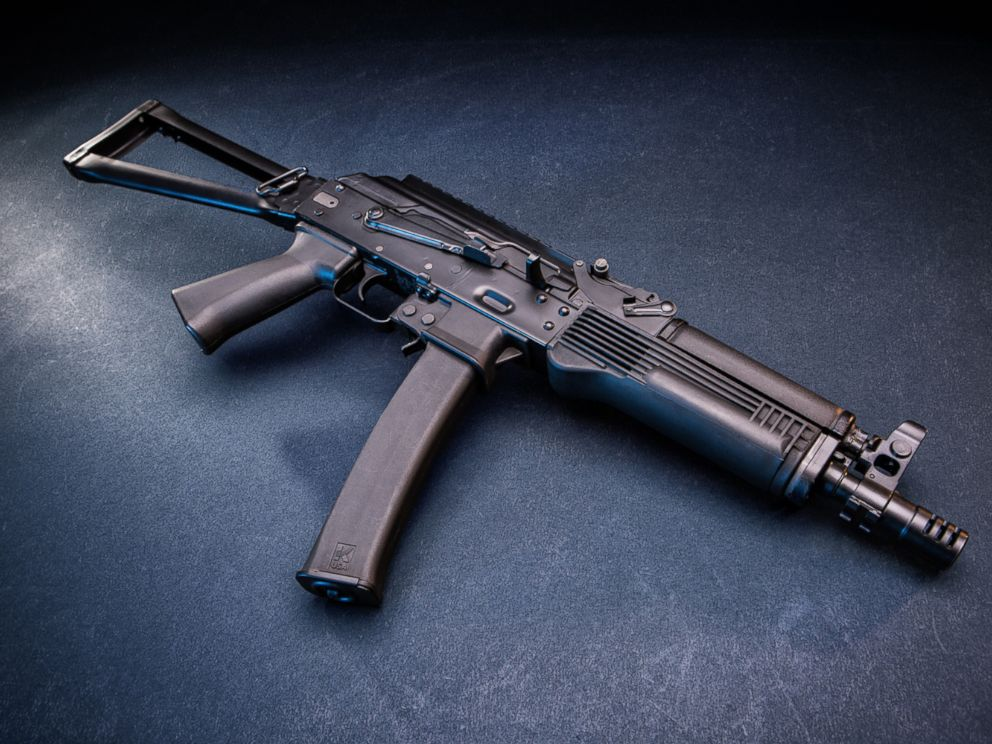 PHOTO: A US manufactured 9mm semi-automatic KR-9 SBR rifle is pictured from the Kalashnikov USA website.