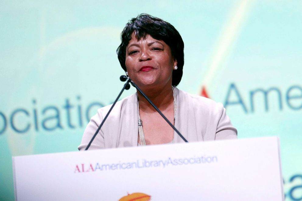 PHOTO: New Orleans Mayor LaToya Cantrell speaks during the 2018 American Library Association Annual Conference, June 22, 2018, in New Orleans.
