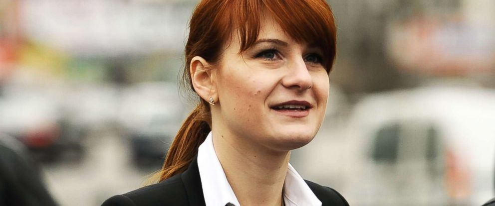 PHOTO: Maria Butina, chairman of the board of the Pravo na Oruzhiye movement, attends a rally at Krasnopresnenskaya Zastava Square in support of legalising the possession of handguns, April 21, 2013.