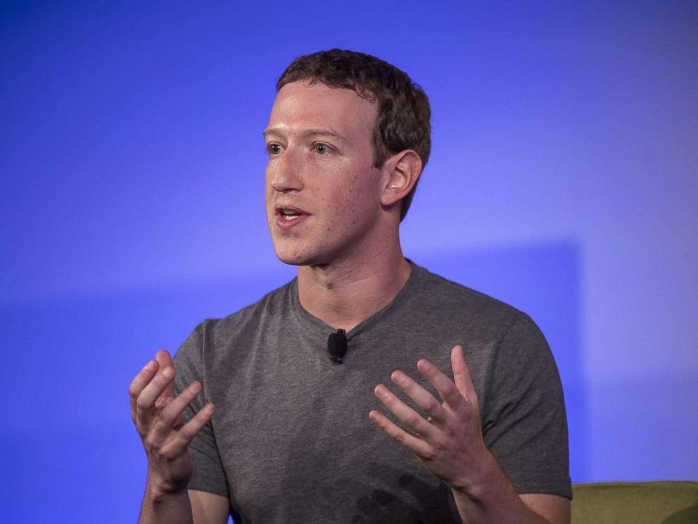 PHOTO: Mark Zuckerberg of Facebook Inc. speaks during an event in Half Moon Bay, Calif., Nov. 10, 2016.