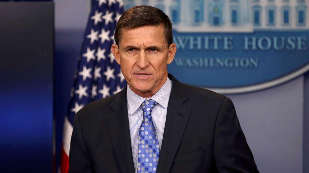 White House National Security Advisor Michael Flynn speaks at the White House, Washington, on February 1, 2017.