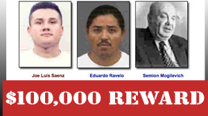 $100,000 Reward for Three Added to FBI Top 10 List