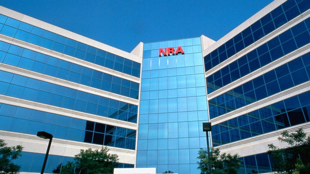 In this undated photo shows the exterior of the Headquarters of the National Rifle Association in Fairfax, Va.