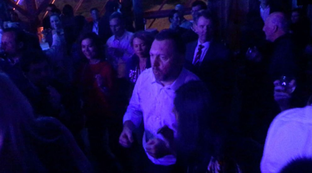 PHOTO: Russian billionaire Oleg Deripaska took to the dance floor at his party in Davos on Friday night.
