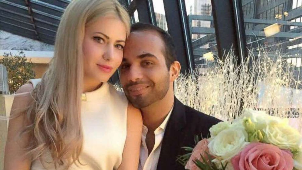 George Papadopoulos married Simona Mangiante in Chicago, March 2, 2018.